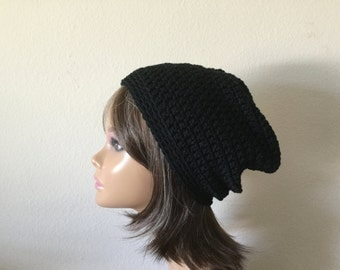 Slouchy Hat,  Free Shipping, Any Color, Pick a Color Slouchy Crochet Beanie,   Teen or adult Modern slouchy, Trendy Beanie