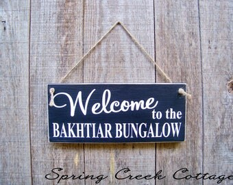 Signs, Welcome, Personalized Signs, Porch Decor, Door Decor, Wood Signs, Handpainted, Typography, Custom Signs, Personalized Signs, Rustic