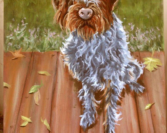 "Oil Painting Portrait of your dog, or any pet, 11"" x 14"" size"