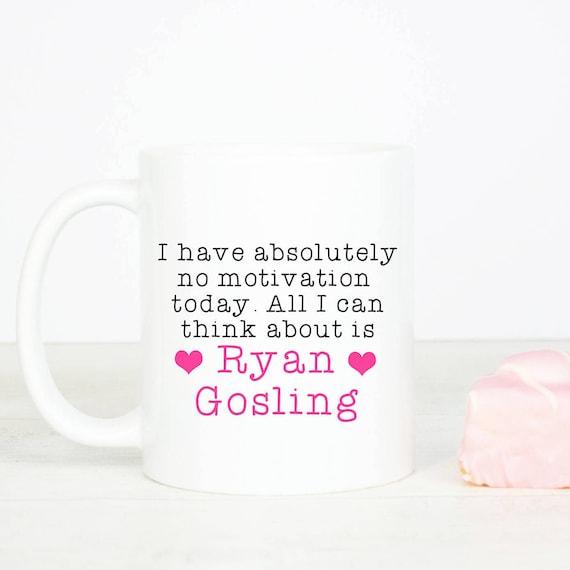 Ryan Gosling mug, Personalised back, lovely Ryan Gosling gift mug