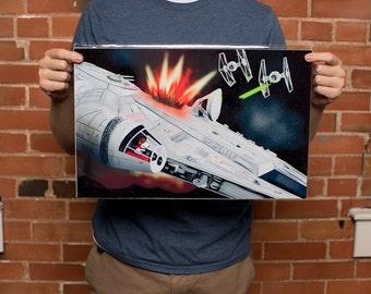 Star Wars Art Print - Snoopy Art Print - Millennium Falcon Art Print - 11x17 Original From the Artist