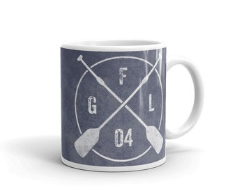 Personalized Stand Up Paddleboard Monogram Mug- Mens Personalized Mug- SUP Mug- Coffee Mug- Stand Up Paddleboard Mug