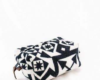 Small Dopp Bag in Condensed Pattern