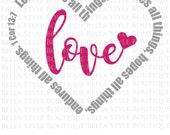 Love 1 Corinthians 13 svg cut file