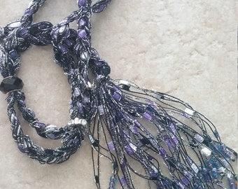 Beaded Trellis Necklaces, Purple