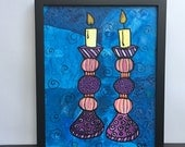 Shabbos Candles Painting ...