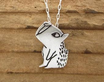 Sterling Capybara Necklace - Silver Capybara Pendant