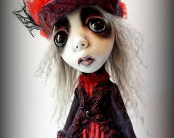 Loopy Southern Gothic Art Doll Victorian Dark Goth Steampunk Darcy