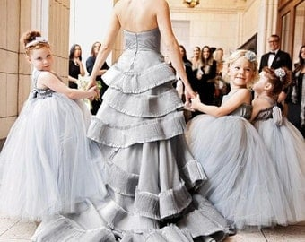 As Seen on Martha Stewart Weddings Flower Girl Dress Floor Length