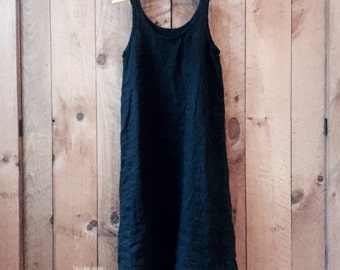 Linen Loose Fit Maxi Tank Dress - sewn to order