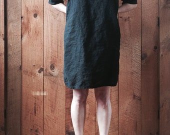 The Essential Linen Dress - loose fit, drop shoulder, shift dress - sizes XS - XL