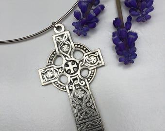 Neckwire Silver Celtic Cross