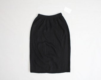 black knit skirt | black skirt | sweater skirt