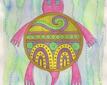 Swimming turtle wall art, Swimming turtle art, Swimming turtle painting, Swimming turtle watercolor, sealife wall art sealife art ocean life