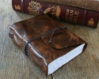 "Leather Journal . ""Either write something worth reading or do something worth writing"" - Benjamin Franklin . handmade handbound (320 pgs)"