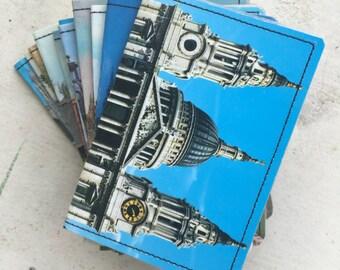 Slim Wallet- British Vintage Postcard- choose 1
