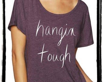 Hangin Tough Dolman Tee Loose Slouchy Heathered tshirt shirt