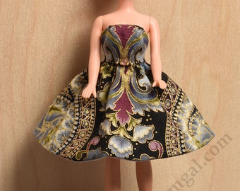 Dark Florentine Mini and Gold Leather Shoes for Dawn and Pippa Dolls by awsumgal