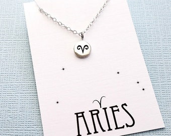 Aries Jewelry | Tiny Aries Necklace, Zodiac Jewelry, Zodiac Necklace, Celestial Jewelry, Astrology Jewelry, Zodiac Sign Necklace, Zodiac