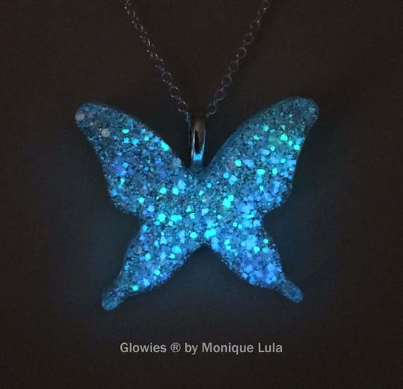 Holographic Galaxy Glow Butterfly Magic Nature Jewelry Necklace