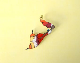 Fairy brooch or necklace, fairy jewelry, wearable art