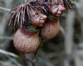 Pixie twins, handmade decoration. wichtel