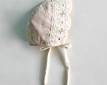 Walnut Flower Bonnet, for Baby and Toddler