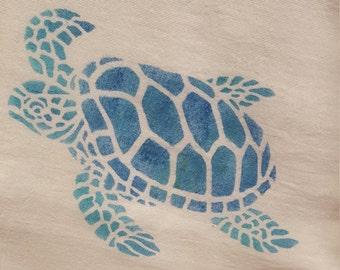 Sea Turtle Flour Sack Towel, Nautical, Turtle Towel