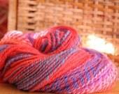 Handspun Yarn - Fuschia - Mixed Bag