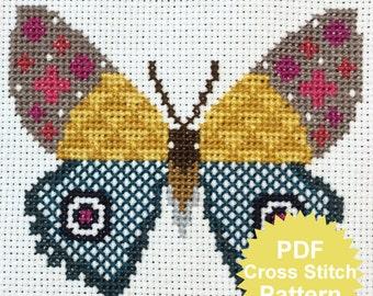 Butterfly Cross Stitch PDF PATTERN