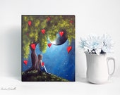 Limited Edition Canvas Art Print 8x10 Inches - Under The Tree Of New Beginnings - #1/15 - Artist Proof - Erback Surreal Paintings & Prints