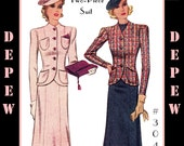 Vintage Sewing Pattern Reproduction Ladies' 1930's Two-Piece Suit #3048 -INSTANT DOWNLOAD PDF