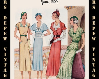 Vintage Sewing Pattern Advertisement Collection McCall's Magazine June 1932 PDF -INSTANT DOWNLOAD-