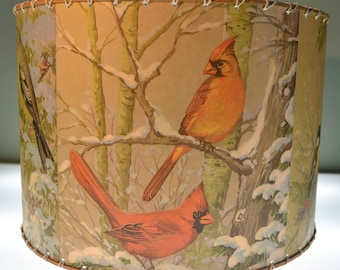 Adirondack Decor, Birds, Small 14 x 14, Chickadee, Cardinal, Finch, Grossbeak
