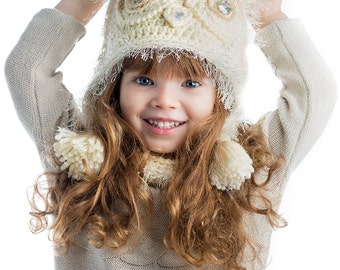CROCHET PATTERN Owleta Hat Crochet Pattern  Sizes Child (Youth, Adult)