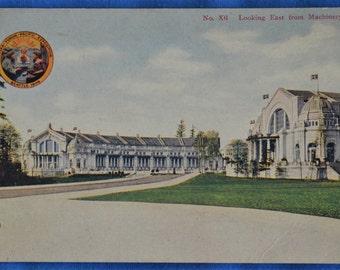 Machinery Hall Building Alaska Yukon Pacific Exposition Seattle Washington Postcard 1909