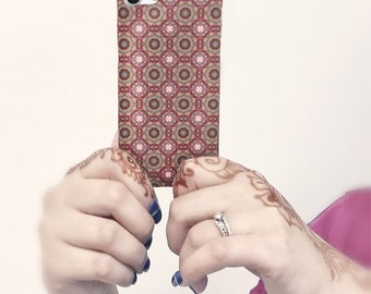 Pretty Pink Mandala Tile Cell Phone Device Case, Slim Fit