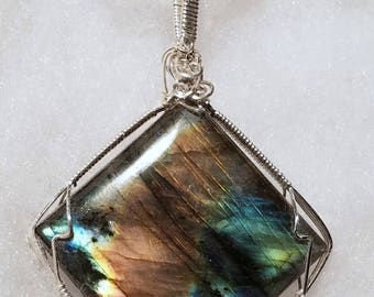 4286 Labradorite and Sterling Silver Pendant