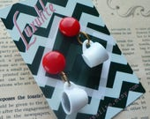 Damn fine cup of coffee! Handmade 1940s 50s vintage inspired novelty Twin Peaks themed earrings by Luxulite