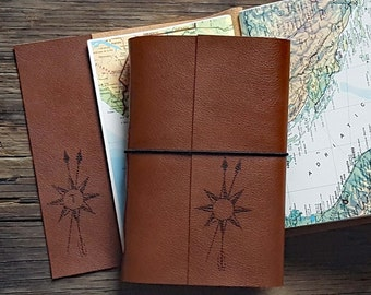 TRUE NORTH monogram explorer journal with maps a travel journal - tremundo journals