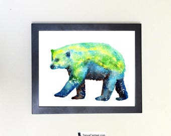 Polar Bear Spirit Animal Art Print Watercolor Totem Guide
