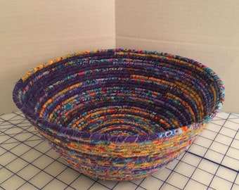 Fabric Bowl, large, multi-color