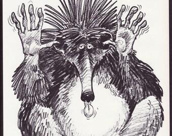 The Terrible Tenrec - 60's vintage book page