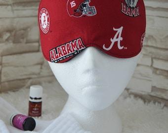 Handcrafted Travel/Sleep/Eye Mask ~ Light Blocking ~ Alabama Fabric ~ READY TO SHIP