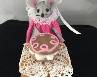 A Mouse with a Macaroon. NEW LOWER PRICE