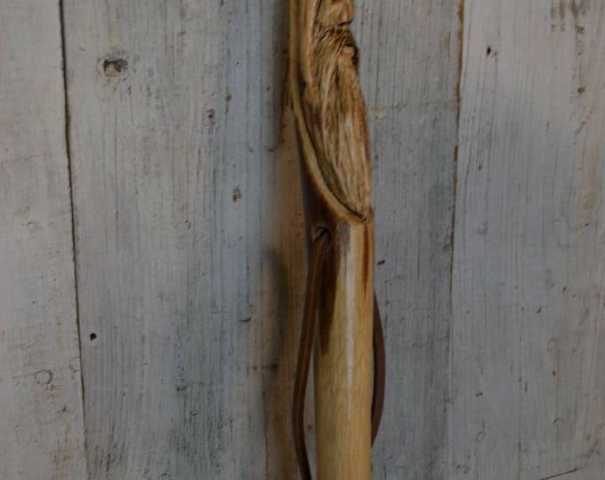 Wood Spirit Walking Stick, Whimsical Carving, Handcarved Woodspirit Hiking Stick, Hand-carved Mountain Man Wood Carvers of Etsy 1656