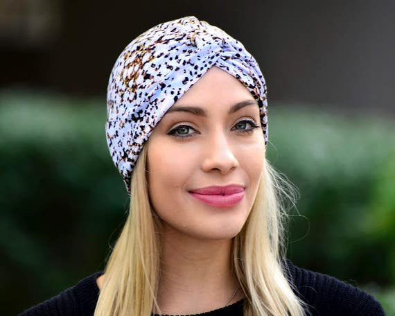 Turban Hat Women's Leopard Print Spring Fashion Chemo Cap Hair Covering Skullcap Full Turban Retro Accessory Stretchy Turban Hat Summer Hat