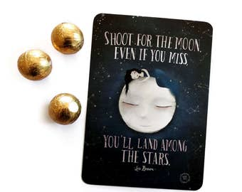 Shoot for the Moon... - Postcard