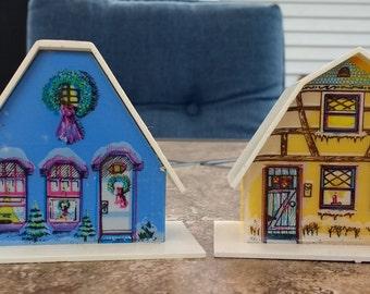Christmas Alpine Village Plastic Christmas House Light covers