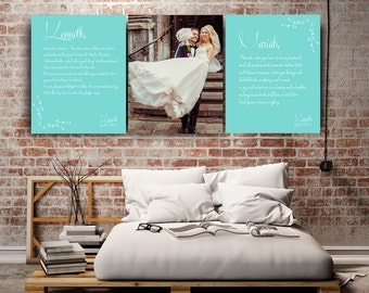 anniversary gift for husband, 10th anniversary 1st anniversary, gift for wife wedding vow wall art custom wedding vow art large canvas print